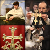 Крещенский сочельник в Сретенском монастыре