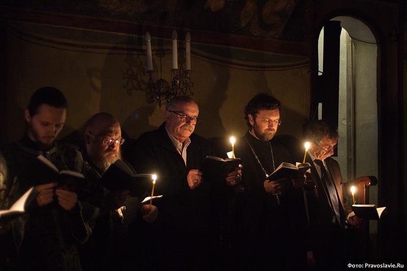 Служение Святейшего Патриарха Кирилла в Сретенском монастыре Великим постом 2012 года.  Фото: И. Правдолюбов / Православие.Ru