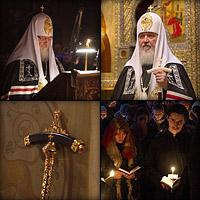 Служение Святейшего Патриарха Кирилла в Сретенском монастыре Великим постом 2012 года