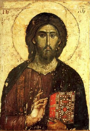 Господь Вседержитель. Икона из монастыря Хиландар, Афон