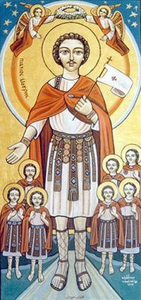 Св. мученик Маврикий. Современная коптская икона