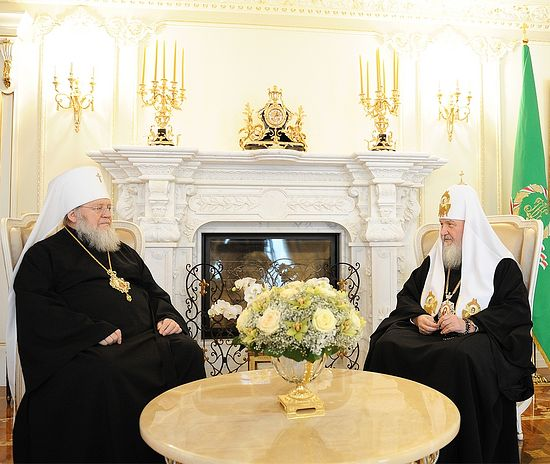 A. meeting between His Holiness Patriarch Kirill of Moscow and All Russian with Metropolitan Hilarion of Eastern American and New York, February 12, 2012. Photo: Patriarchia.ru
