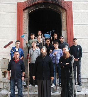 Загрузить увеличенное изображение. 800 x 558 px. Размер файла 121979 b.  The students of the Prizren seminary. Fall, 2011.