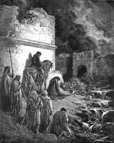 Гюстав Доре. Неемия тайно осматривает разрушенные стены Иерусалима