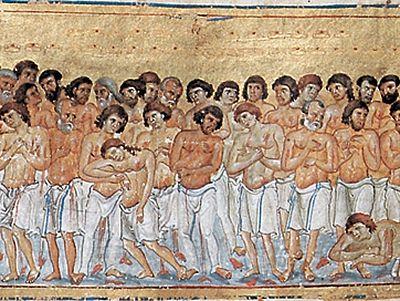 Святые сорок мучеников, в Севастийском озере мучившихся