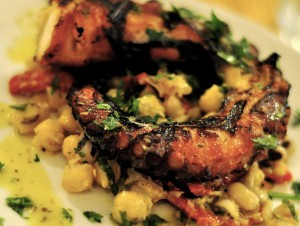 Photo Credit: Grilled Octopus on Bean Salad by Karen Blumberg