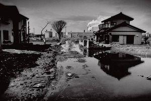 Загрузить увеличенное изображение. 625 x 417 px. Размер файла 36271 b.  За год после цунами город Исиномаки почти не изменился. На протяже-нии полу-километра от берега моря одна лишь грязная и голая земля, Пейзаж бодрят лишь яркое весеннее солнце и улыбающиеся японцы