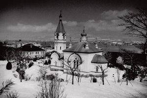 Загрузить увеличенное изображение. 625 x 417 px. Размер файла 41120 b.  Воскресенский собор в Хакодате — это примерно то же самое, что храм Покрова на Нерли в России