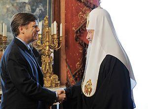 Встреча Святейшего Патриарха Кирилла с послом США М. Макфолом. Фото: С.Власов