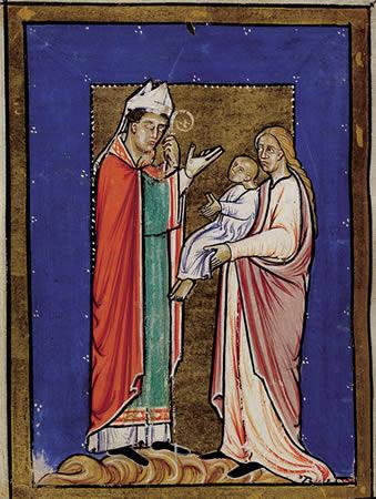 Святой Кутберт исцеляет ребёнка