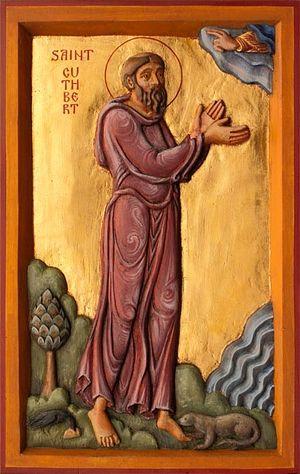 Святитель Кутберт, епископ Линдисфарнский. Иконописец: Айдан Харт