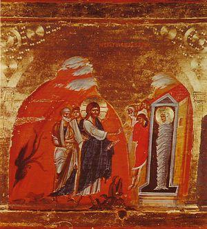 The Resurrection of Lazarus. Mt. Sinai. 13th c.