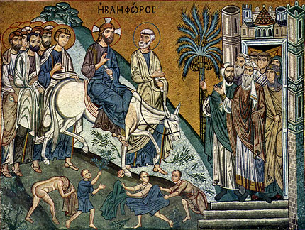Mosaic. The Lord's Entry into Jerusalem