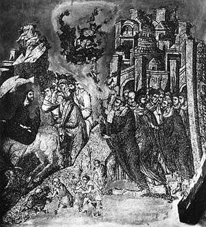 Ил. 6. Вход Господень в Иерусалим. 1312–1315 гг. Мозаика церкви святых апостолов в Фессалониках (Греция)