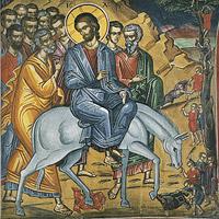 Вход Господень в Иерусалим: иконы и фрески