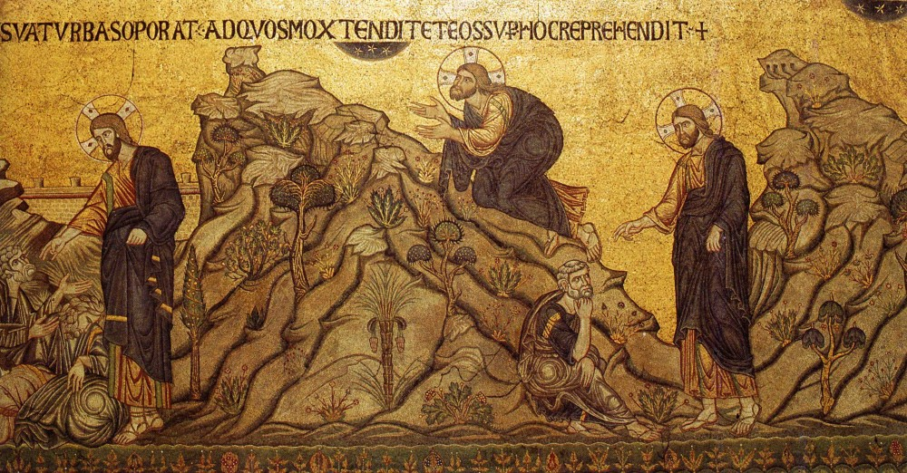 Holy and Great Thursday. Prayer in Gethsemane. Mosaic from the Cathedral of St. Mark, Venice.