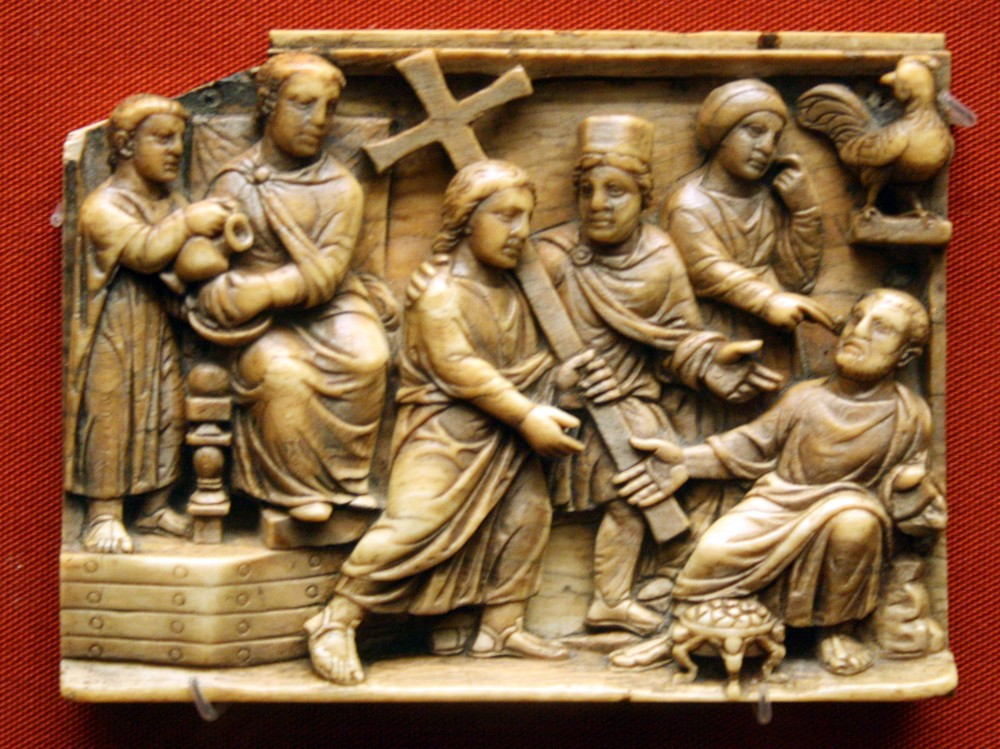 Holy and Great Friday. The Savior's way of the Cross. Elephant tusk. British Museum. 420-430 AD.