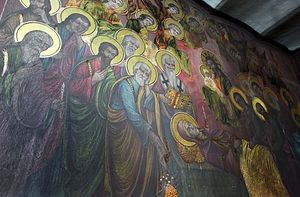 Picture taken on April 9, 2012 shows a fresco at the St. Dimitrija Church in Skopje where frescoes have begun to shine on their own.Photo: Filip Popovski AFP/Getty Images