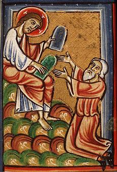 И когда [Бог] перестал говорить с Моисеем на горе Синае, дал ему две скрижали откровения, скрижали каменные, на которых написано было перстом Божиим. Исх. 31, 18