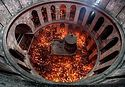 Holy Fire Descends upon Jesus' Tomb in Jerusalem