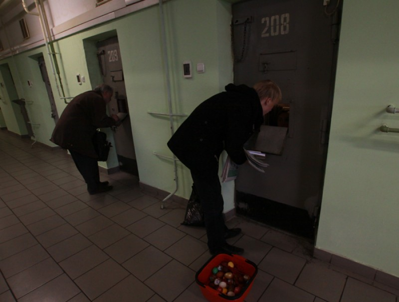Пасхальная миссия в Бутырке.  Фото: Ю. Руденко