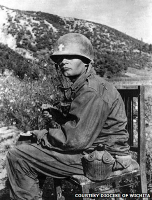Father Kapaun in an undated photograph from Korea.