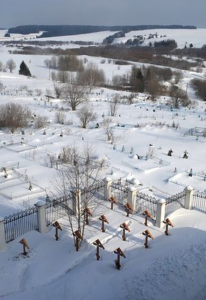 The monastery cemetery. Photo: Valery Chepkasov/temples.ru