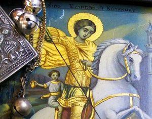 Фрагмент иконы чудотворной иконы св.Георгия