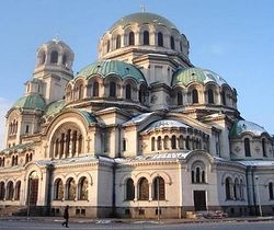 The Church of St. Alexander Nevsky, Sophia, Bulgaria.