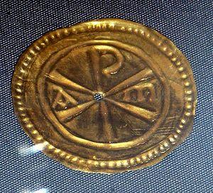 Золотая римская табличка, обнаруженная в Уотер-Ньютоне, Кембриджшир
