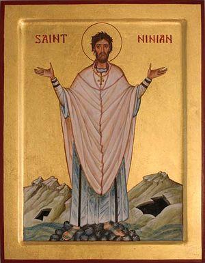 Святитель Ниниан Уитхорнский. Иконописец: Айдан Харт