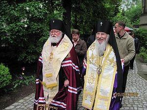 Архиепископ Берлинский и Германский Феофан и Архиепископ Берлинский и Германский Марк (РПЦЗ МП), Дрезден, 20.05.2010