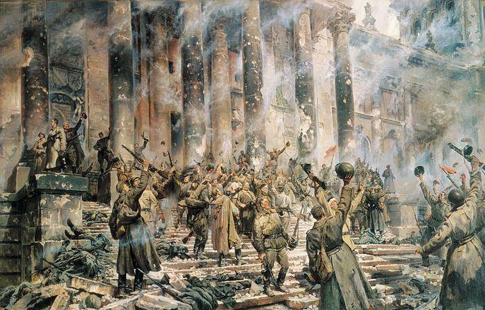 Победа 1945 г. Художник: П. Кривоногов. 1949 г.