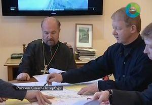 Подготовка к экспедиции. Протоиерей Алексей Крылов (слева) и руководитель проекта Сергей Голубев