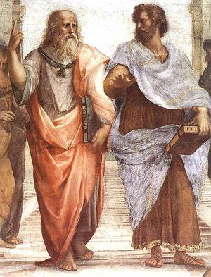 Платон и Аристотель на фреске