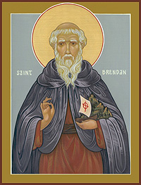 Icon of Saint Brendan, by Father John of the Hermitage of the Holy Cross