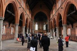 Residents inside the Church. Photo: Ian Wylie.