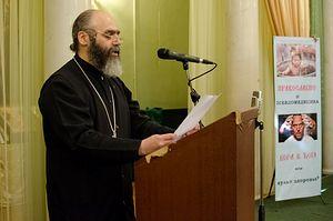 Один из участников конференции, председатель епархиального миссионерского отдела протоиерей Георгий Иоффе