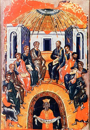 The Descent of the Holy Spirit on the Apostles.