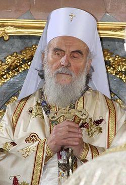 Patriarch Irenej of Serbia.