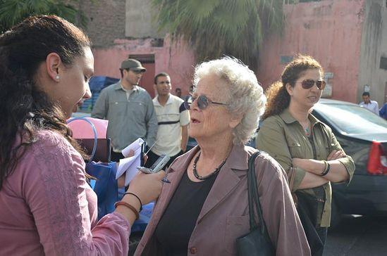 Прихожанка храма, Прасковья Петровна Шереметева дает интервью