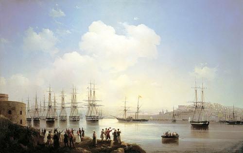 Русские корабли в Ахтиярской бухте
