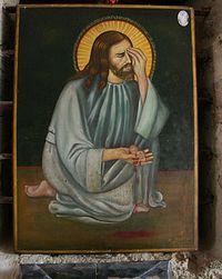 Христос, плачущий о детях. Современная греческая икона
