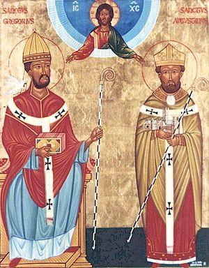 Святители Григорий Двоеслов и Августин Кентерберийский