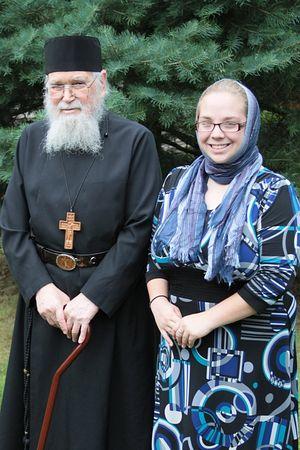 Fr. Roman Braga and Jessica Precop.