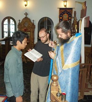 Р.Б. Давид (David Liv) после приема в Православие