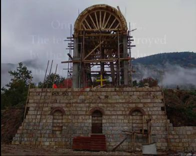 Construction of the Church of St. John Chrysostom near Bitola.
