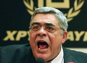 Лидер партии «Золотая Заря» Николаос Михалолиакос.