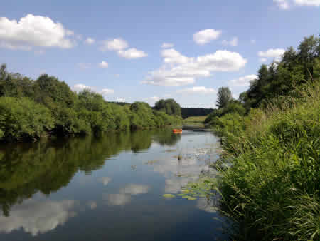 The Obnora River.