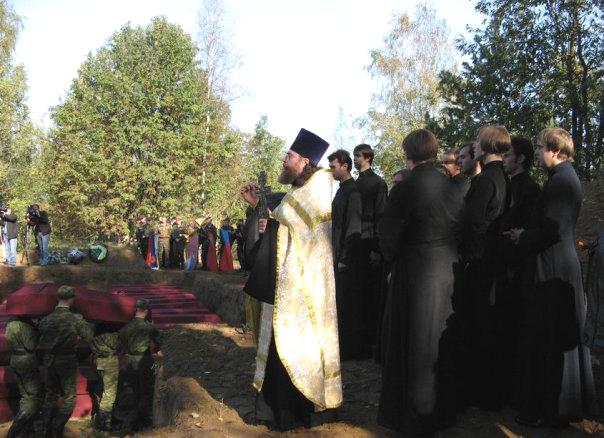 Захоронение останков 1.5 тысяч солдат на Синявинских высотах